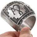All Sterling Silver Kokopelli Design Navajo Bracelet 40764