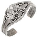 Vintage Navajo Silver Eagle Ladies Cuff Bracelet 40765