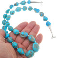 Large Natural Turquoise Bead Necklace 40795