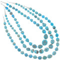 Authentic Navajo Made Silver Turquoise Necklaces 40795