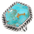 Genuine Turquoise Sterling Silver Navajo Ring 40824