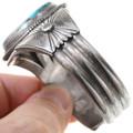 Blue Diamond Turquoise Sterling Silver Bracelet 40827