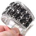 Navajo Sterling Silver Black Onyx Bracelet 40829