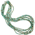 Green Turquoise Necklace Sterling Accents 40836