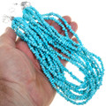 Natural Sleeping Beauty Turquoise Ten Strand Necklace 40840