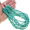 Beaded High Grade Turquoise Multi Strand Necklace 40842