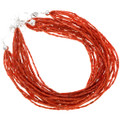 Southwest Beaded Multistrand Coral Jewelry 40843
