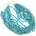 Seven Strand Turquoise Nugget Bead Necklaces 40846