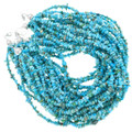 Sleeping Beauty Turquoise 10 Strand Necklace Sterling Clasp 40850