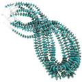 Authentic Navajo Lula Begay Beaded Turquoise Necklaces 40884