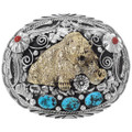 Turquoise Coral Bear Buckle 17585