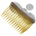 Sterling Silver Navajo Made Hair Comb Barrette 40930