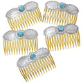 Authentic Navajo Made Turquoise Hair Comb Accessory 40931