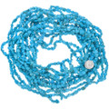 Turquoise Magnesite Nuggets Long Bead Strand 37242