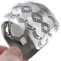 Hammered Navajo Pattern Sterling Silver Ladies Watch Bracelet 40942