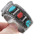 Arizona Turquoise Sterling Silver Old Pawn Navajo Watch 40945