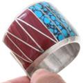 Sterling Silver Navajo Inlay Bracelet 40805
