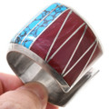 Turquoise Spiny Oyster Wide Cuff Bracelet 40805