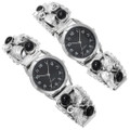 Authentic Navajo Made Silver Onyx Watches 40954