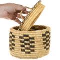 Vintage 1970s Native American Storage Basket with Lid 40962