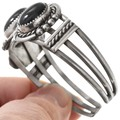 Navajo Sterling Silver Onyx Bracelet 40861