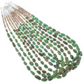 Navajo Beaded Emerald Valley Turquoise Necklaces 41003