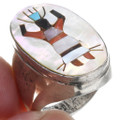 Turquoise Shell Sterling Silver Kachina Ring 41007