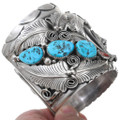 Sleeping Beauty Turquoise Coral Bear Claw Bracelet 41010