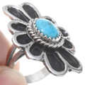 Navajo Turquoise Sterling Silver Ring 41012