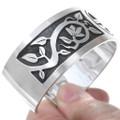 Navajo Indian Sterling Sunface Bracelet 24551