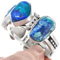 Native American Azurite 5 Stone Crystal Bracelet 41043