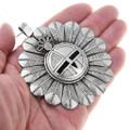 Detailed All Silver Sunface Kachina Design Navajo Pendant 41051