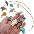 Vintage Native American Animal Fetish Beaded Necklace