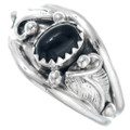 Sterling Silver Black Onyx Navajo Ring 41179