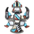 Large Zuni Inlaid Knifewing Kachina Pendant 41158