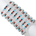 Sterling Silver Turquoise Inlay Zuni Bracelets 41247