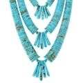 Native American Turquoise Heishi Necklace 41301