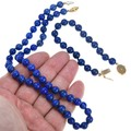 High Grade Lapis Beads Matching Bracelet Necklace Set 41349