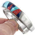 Navajo Inlaid Spiny Oyster Lapis Turquoise Bracelet