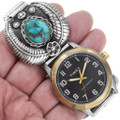 Natural Turquoise Sterling Silver Watch 41374