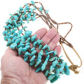 Native American Beaded Heishi Turquoise Nugget Necklace 41341