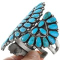 Vintage 1970s Navajo Turquoise Cuff Bracelet 41523