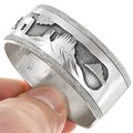 Navajo Storyteller Cuff Sterling Silver Bracelet 41525