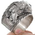 Native American Bear Claw Cuff Vintage Western Bracelet 41526