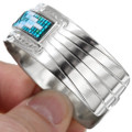 Authentic Navajo Beaded Silver Cuff Bracelet 41535