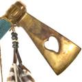 Native Made Beaded Brass Tomahawk Axe 41528