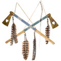 Navajo Tomahawk Beaded Leather Wrapped 41528