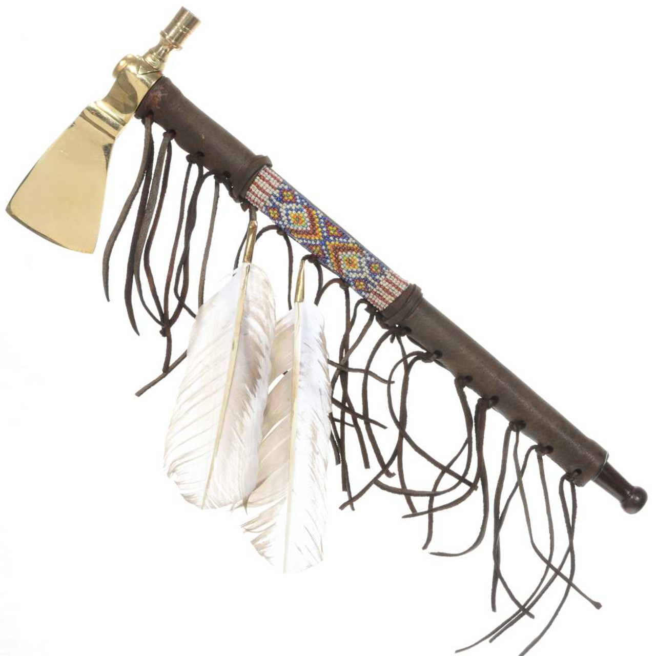 Indian Tomahawk Feathered Peace Pipe Pipe Dreams t
