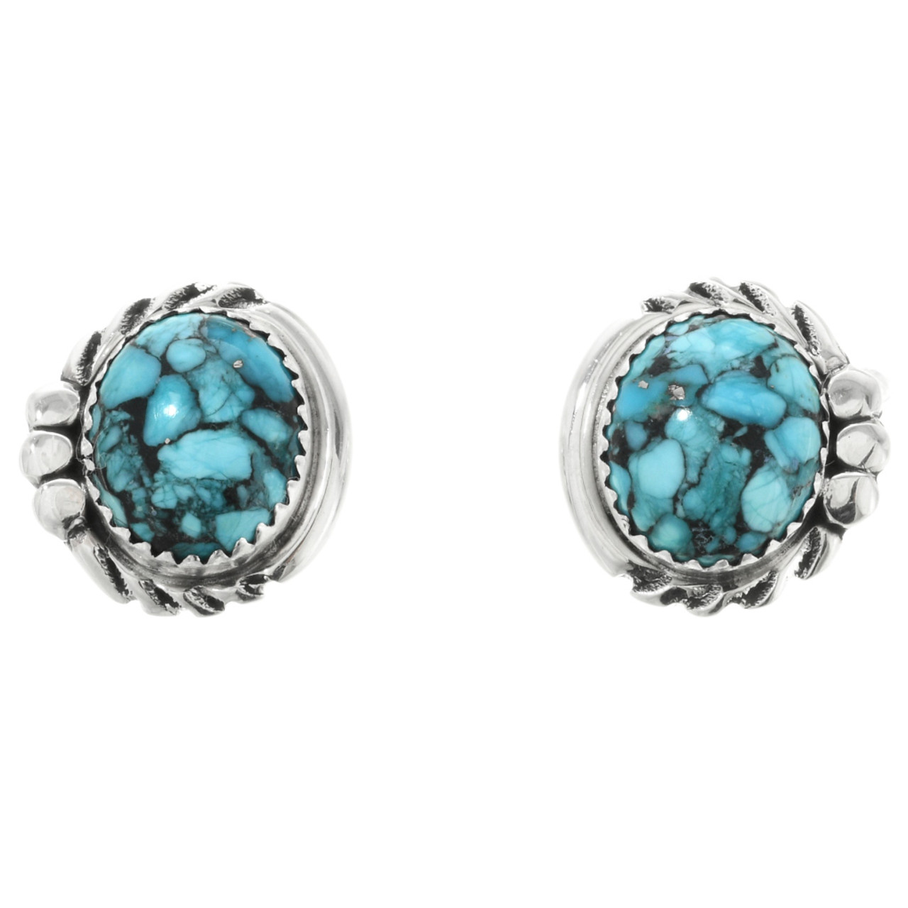 9bea4cc59 Spiderweb Turquoise Silver Post Earrings 32013