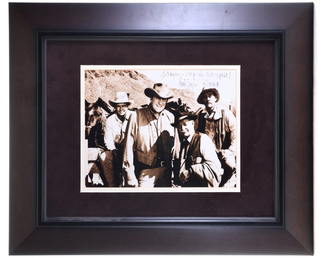 Framed Autographed Gunsmoke Cast Photo Western Collectible 0027